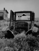 Alfred Eisenstaedt - Scene With Abandoned Broke Down Car In Open Field